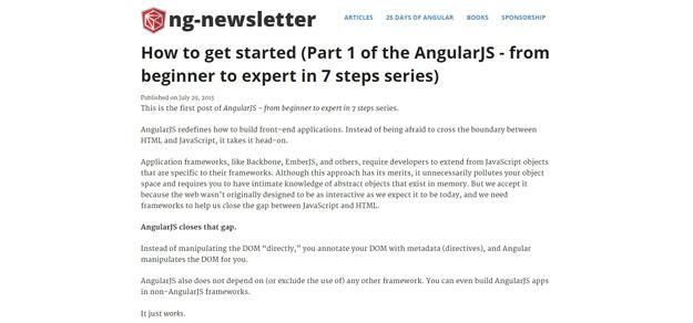 AngularJS – Beginner to Expert 7 Steps Series
