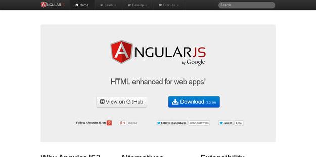 15款加速 Web 开发的 JavaScript 框架