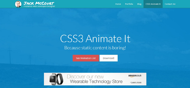 jQuery Plugins for Creating CSS3 Animations | Code Geekz