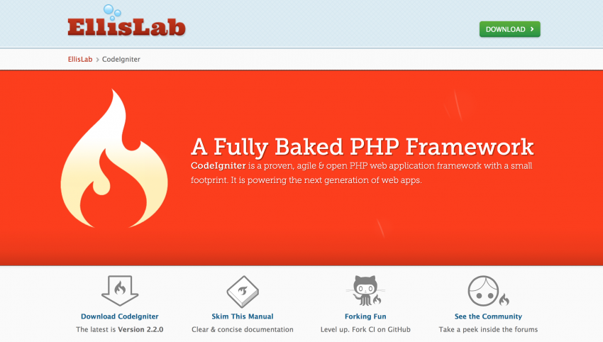 best web application framework php