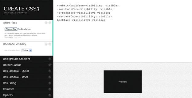 Create CSS3