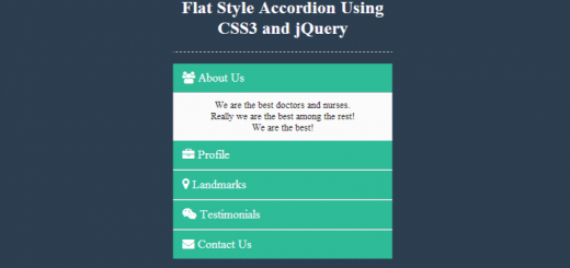 JQuery and CSS style Accordion Menu