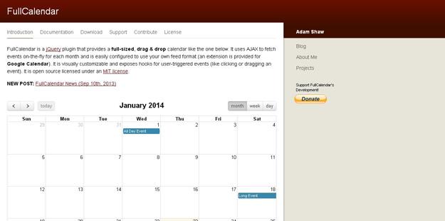 Year Calendar Jquery Plugin : Best jquery calendar plugins for developers code geekz