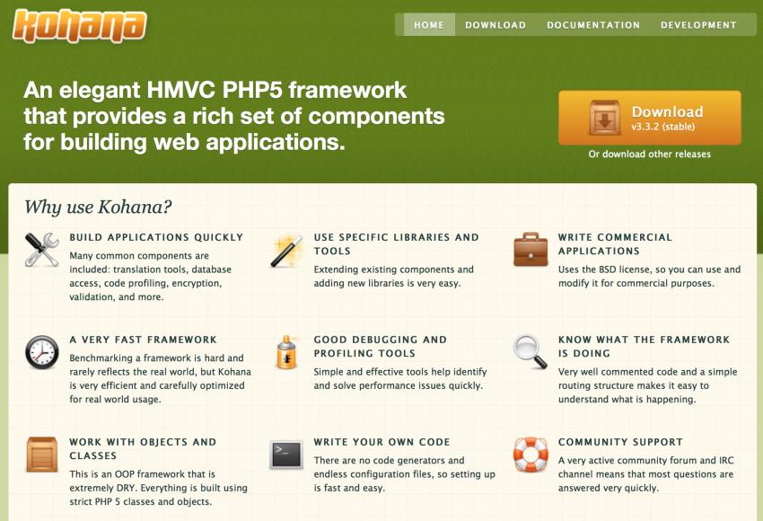 Kohana PHP Framework