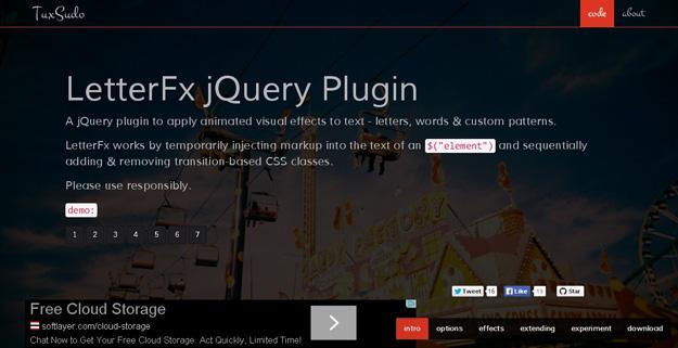 LetterFX jQuery Plugin