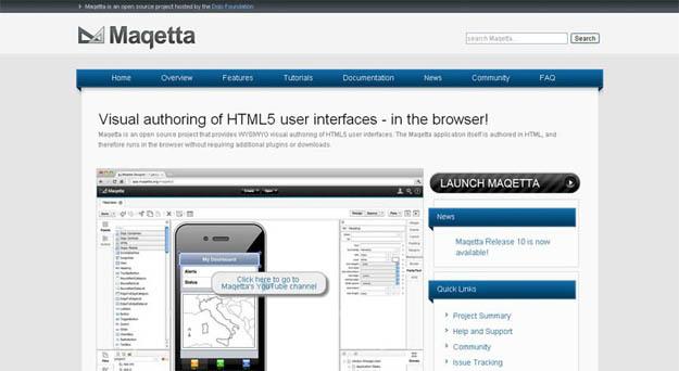 Maqetta-html5-editor
