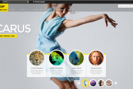 Icarus wordpress jquery powered theme