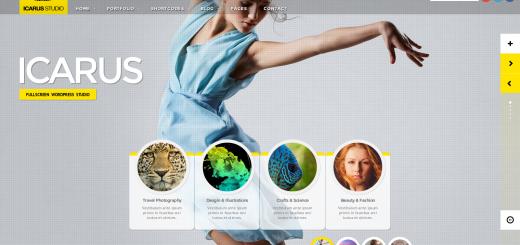 Icarus wordpress jquery powered theme