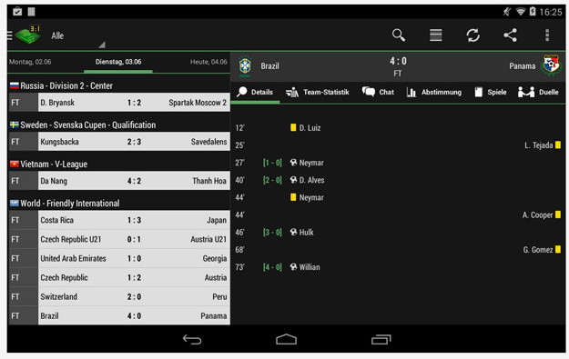 soccer live score and get updated by worldwide live scores and free