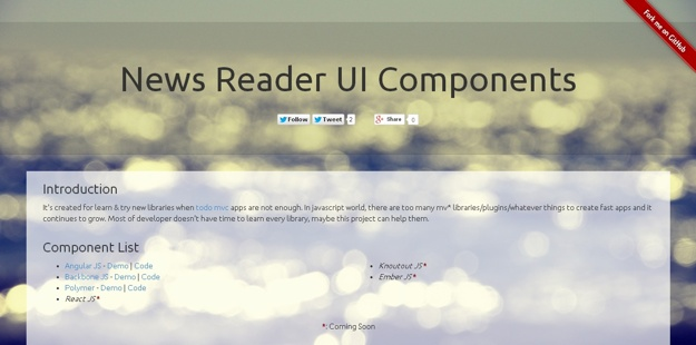 UI-News-Reader-Components