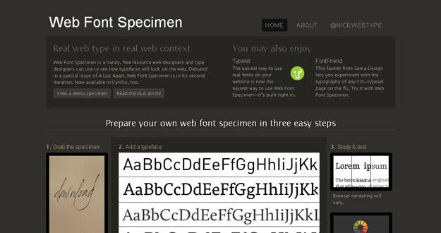 Web Font Specimen