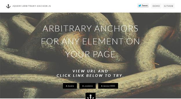 arbitrary anchors