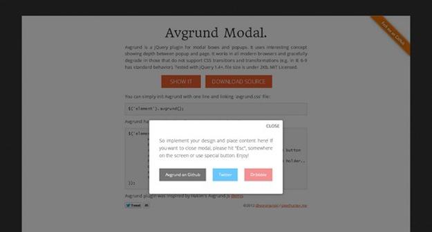 15款最好的 jQuery Modal(模态窗口)插件