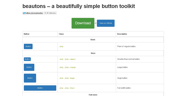 beautons - 18 CSS Effect Libraries for Creating Beautiful Animations