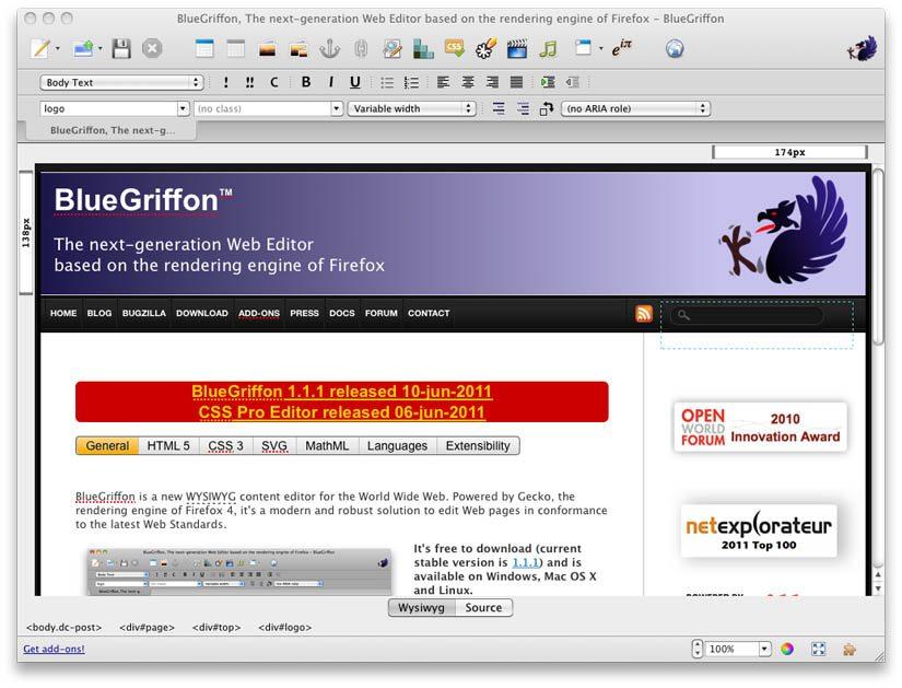 blue-griffon-html5-editor