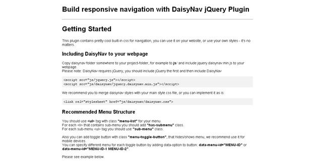 daisynav
