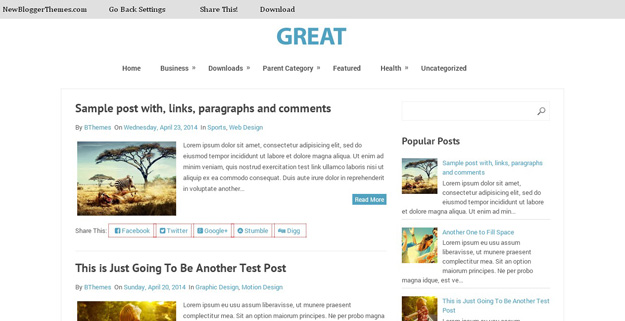 30 Free Blogger Templates for 2014 | Code Geekz