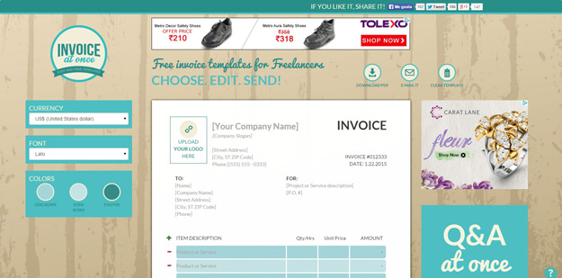 15 free & extremely useful invoice generators | code geekz, Invoice examples