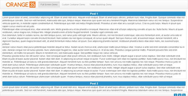 jQuery Fluid Content Scroller