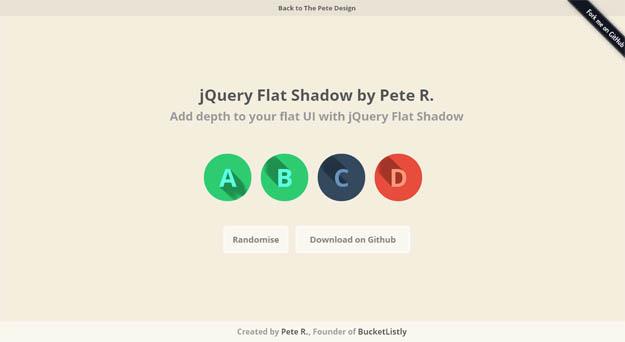 jquery-flat-shadow