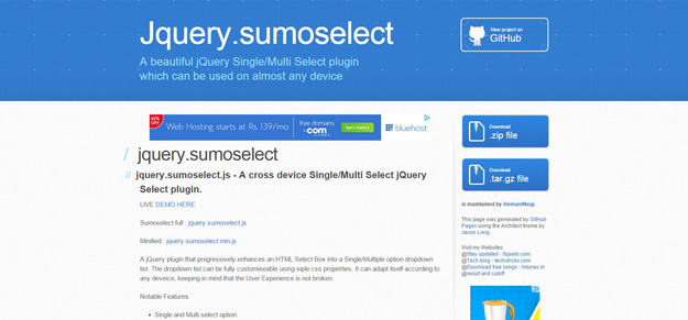jquery sumoselect