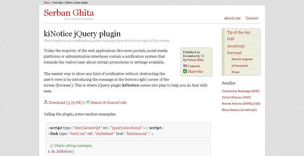 kiNotice jQuery plugin