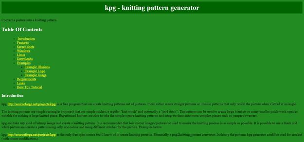 Kpg Knitting Pattern Generator : Free Pattern Generator for Designers Code Geekz