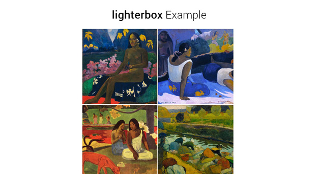 lighterbox - one of the best jQuery Lightbox plugins