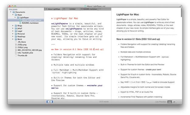 text editor mac