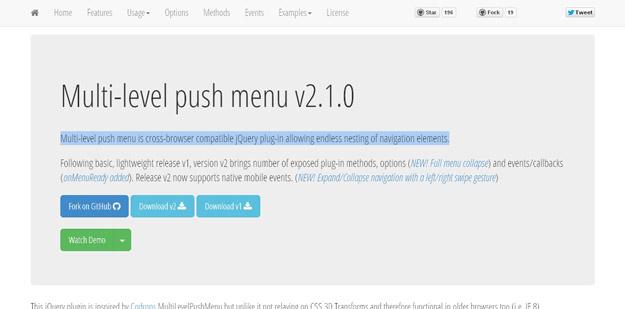 multilevel push menu