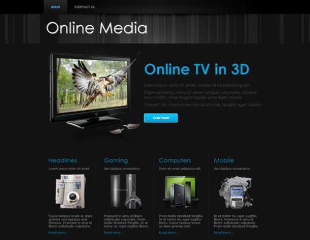 online-media-responsive-template
