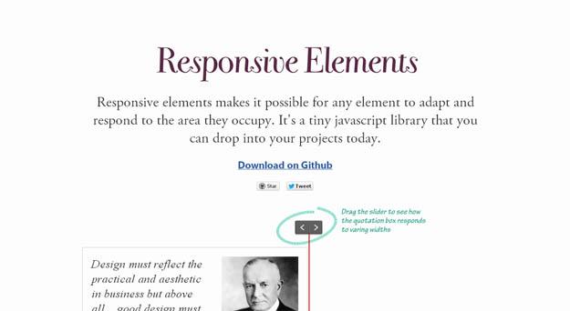 responsive elements