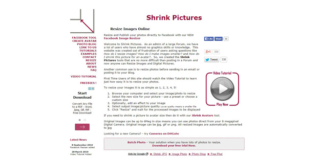 shrink pictures