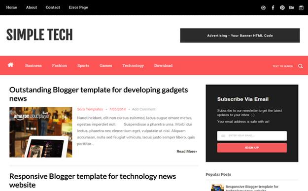 30 Free Blogger Templates For 2014 Code Geekz