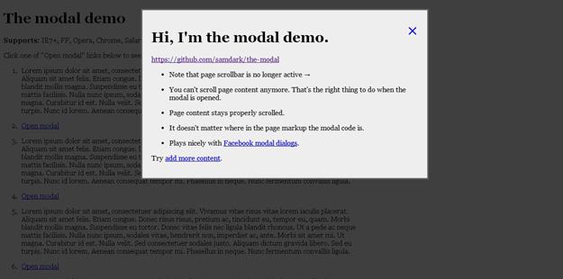 the modal