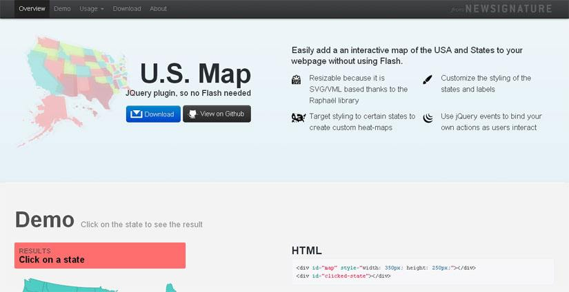 Best Free JQuery Map Plugins Code Geekz - How to add clickable us map to webpage