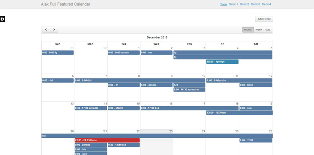 Calendar Planner Php : Php calendar and event scripts for developers code geekz