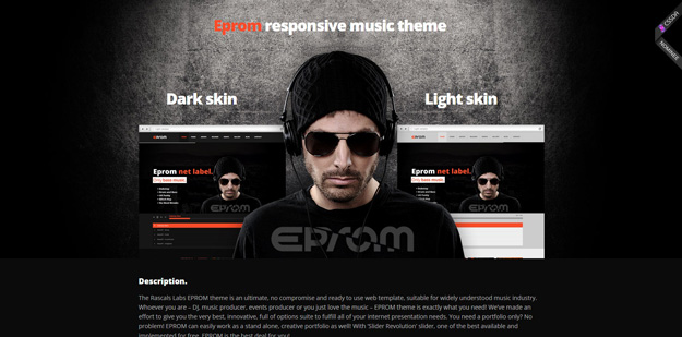 Best HTML Music Website Templates Code Geekz - Dj website templates