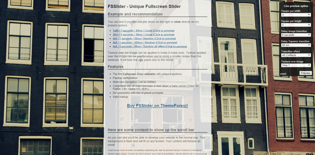 15 Best jQuery FullScreen Background Image plugins | Code Geekz