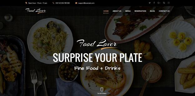 21 html5 restaurant cafe website templates code geekz