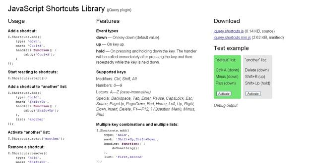 10 JavaScript Libraries to Handle Keyboard Events | Code Geekz