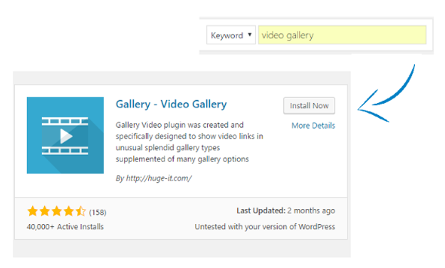 how to create a wordpress video gallery