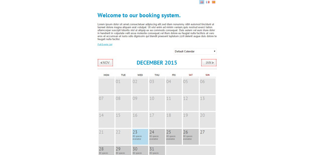 Calendar Booking System Php : Php calendar and event scripts for developers code geekz