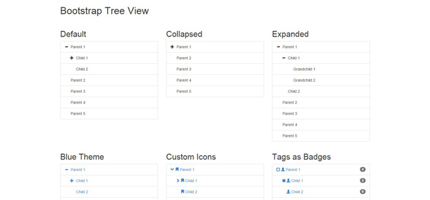 bootstrap tree view