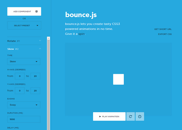 bounce-js - 18 CSS Effect Libraries for Creating Beautiful Animations
