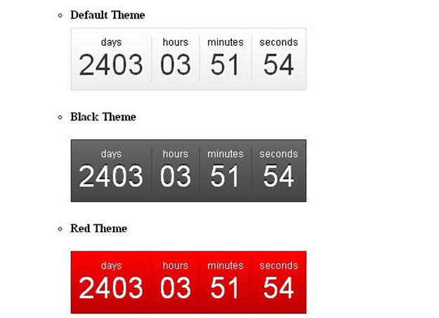 Best jQuery Countdown Timer Plugins   Code Geekz