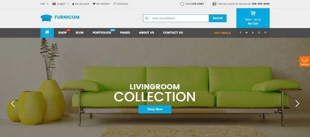 Furnicom Is The Best Premium WordPress Theme For Furniture And Interior  Websites With The Amazing Loading Speed, SEO Optimization And A Lot Of  ECommerce ...
