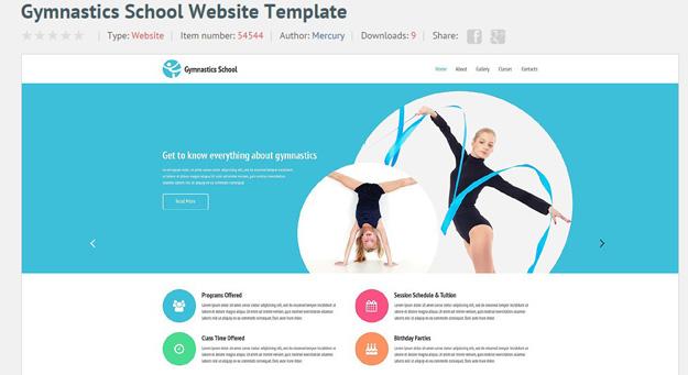 20 Fitness Gym Website Templates for 2016 | Code Geekz