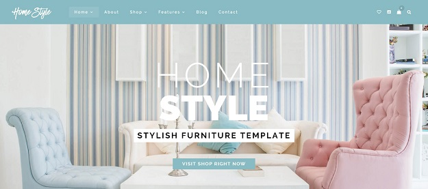 HomeStyle Is A Stylish Furniture Website. This Template Is Ideal For  Furniture Shop, Home Decoration, Interior, Architecture Websites And Blogs.