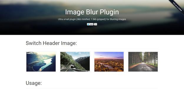 image blur plugin